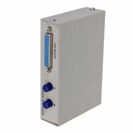 YENISEI 2-Port 25-Pin-DB-25 manuelle Parallel-Drucker-Sharing-Lichtschalter-Box - grau