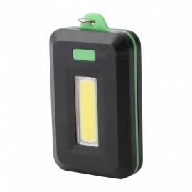 ZHAOYAO Mini COB 3-Mode Keychain LED Light - Black + Green