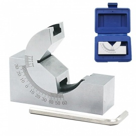 ESAMACT Sine Gauge Adjustable Angle Gauge, High Precision Angle Pad, 0-60 Degree Angle Plate Block