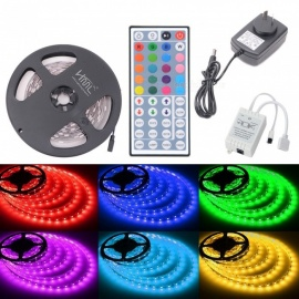 HML 72W 150-5050 RGB LED Strip Light with 44-key IR Remote Controller + AU Plug Power Adapter