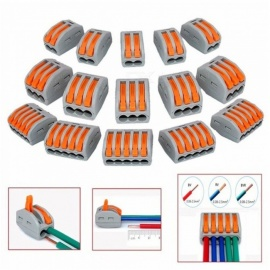 ZHAOYAO 50Pcs Mayitr Terminal Blocks, Flexible Operating Lever Compact Splicing Connector Wires