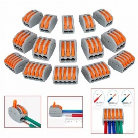 ZHAOYAO 25Pcs Mayitr Terminal Blocks, Flexible Operating Lever Compact Splicing Connector Wires