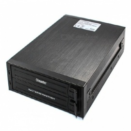 "OImaster SWAP 2 Dual 2.5"" SATA HDD / SSD Internal Enclosure - Black (Max 1TB x 2)"