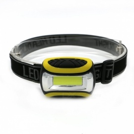 ZHISHUNJIA ZB-7707 Outdoor Mini Portable COB Headlight - Black + Yellow (3 x AAA)
