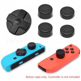 Kitbon Alternative D-Pad Button Caps w/ Thumb Grips for Left Nintendo Switch Joy-Con