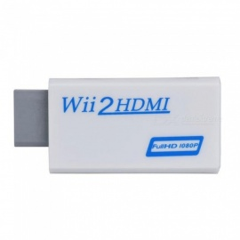 wii til HDMI adapter omformer, støtter full HD 720P 1080P 3,5 mm lyd for HDTV - hvit