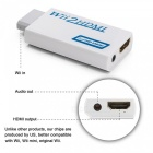Wii to HDMI Adapter Converter, Support Full HD 720P 1080P 3.5mm Audio for HDTV - White