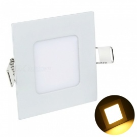 YouOKLight 3W Warm White Light Ceiling Lamp, Super Bright Ultra-thin Downlight LED Square Panel Recessed Ceiling Lamp AC85-265V