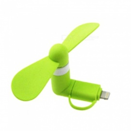 2-in-1 Mini Portable Fan for Android Phone or IPHONE - Green