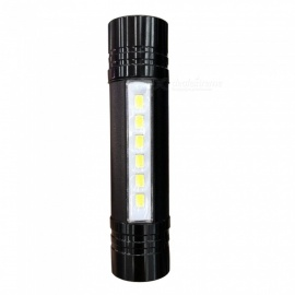 SPO T6 Outdoor Cycling Portable Mini 3-Mode COB LED Flashlight - Black
