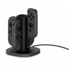GameWill Fast Charging Station Charging Stand Nintendo Switch Joy-Con - Black