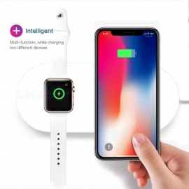 SPO 2-in-1 7.5W Qi Wireless Fast Charger for Smart Watch, Mobile Phones
