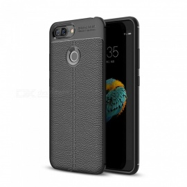 Dayspirit Lichee Pattern Protective TPU Back Cover Case for Lenovo S5 - Black