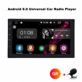 "funrover 2 Doppel-Din Universal-Autoradio DVD-Player, Stereo HD 7"" Quad-Core-Android 8.0 Autoradio w / GPS-Navigation"