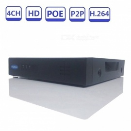 STRONGSHINE 4CH POE H.264 P2P ONVIF NVR 1080P CCTV 48V IEEE802.3af Security Network Video Recorder - UK Plug