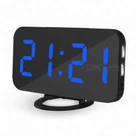 Creative LED Digital Table Alarm Clock - Blue Light