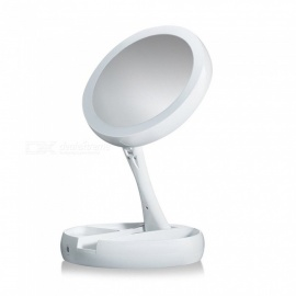 ZHAOYAO Portable USB LED Lighted Makeup Mirror, Rotating Folding Touch Screen Tabletop Lamp Cosmetic Mirror Make Up Tool