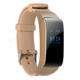 DF22 Smart Bracelet Bluetooth Watch Bracelet Portable Talk Smartband with Pedometer - Gold