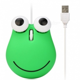 Cute Frog Style Game Mice USB Wired Optical Gaming Mouse for PC Laptop Computer