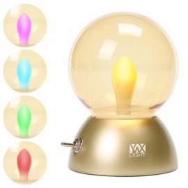 YWXLight Retro Colorful USB Rechargeable LED Globe Night Light Bulb - Gold