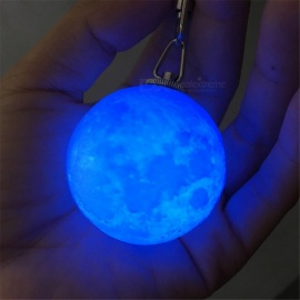 YWXLight Creative Mini 4cm 3D LED Moonlight Nightlight Keychain RGB Light