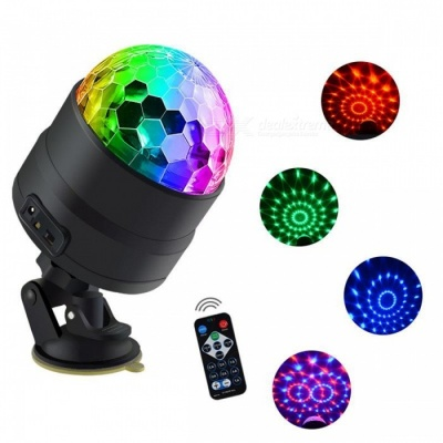 JRLED USB 5V 4W Music Control Multi-Color Stage Lantern, Sucker Type Projection Lamp for Holiday Decoration