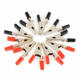10PCS Insulated Crocodile Clips Plastic Handle Cable Lead Testing Metal Alligator Clips Clamps 52mm Length