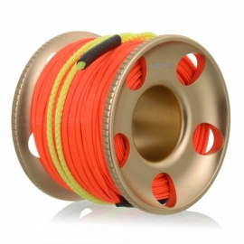 Diving Aluminum Finger Spool Reel Line - Red (30m/100ft)