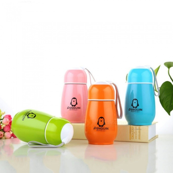 ZHAOYAO Stainless Steel Penguin Style Double-layer Portable Vacuum Water Cups Thermos Cups (300mlเธƒเธŒ 4PCS)