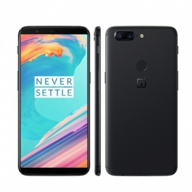 """OnePlus 5T Android 7.1.1 4G 6.0"""" Phone with 6GB RAM, 64GB ROM, 3300mAh Large Battery - Black"""