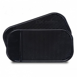 Car Anti-Slip Silicone Viscosity Mat Mobile Phone, Perfume Decoration Holder Stand - Black