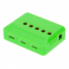 5PCS 3.7V Battery 2s Li-po Battery Chargers  for Hubsan H107 H107C SYMA X5C jjrc H8 mini - Green