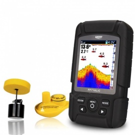 LUCKY FF718LiC 2-in-1 Wired & Wireless Sensor Fish Finder with 328ft/100m Depth Sonar Transducer