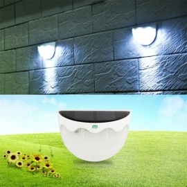YWXLight 3W 6-LED Solar Wall Lamp Light for Outdoor Garden Cold White