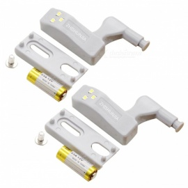 ZHISHUNJIA Cabinet Hinge LED Sensor Light - Warm White 2PCS