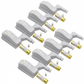 ZHISHUNJIA Cabinet Hinge LED Sensor Light - White 8PCS