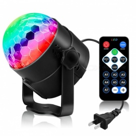 YouOKLight 6W 6-Color LED RGB Disco Ball Party Light, Remote Control Strobe Light, AC100-240V (US Plug)
