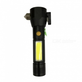 SPO Portable Outdoor Sports Escape LED Light Flashlight w/ Rescue Hammer