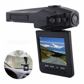 "270 graus rotativo 2.5 ""TFT LCD tela 6 IR LED night vision HD gravador de câmera do carro DVR"