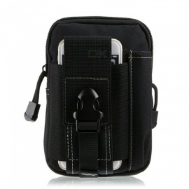 sport all'aria aperta in bicicletta borsa da tasca impermeabile in nylon resistente all'usura per cellulare - nera
