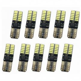 ZHAOYAO 10Pcs T10 3W DC12-24V 4014SMD-24LED Light Bulbs 194 168 W5W Auto Car Interior Wedge Side Light signal Lamp Bulbs White