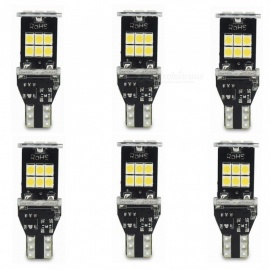 ZHAOYAO 6Pcs T15 5W DC 12-16V 1000LM 6000K 2835 SMD-15LED Car LED Lights White Light