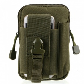 Outdoor Sports Running Cycling Wear-Resistant Waterproof Nylon Pocket Bag for Mobile Phone - Army Green