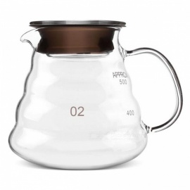 ZHAOYAO 500ML Thickened Glass Heat-Resist Coffee & Tea Drip Pot Kettle