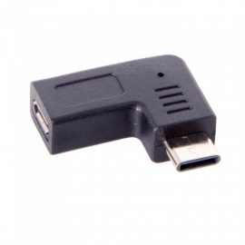 CY UC-212-RI USB-C Type-C Male to Micro USB 2.0 5Pin Female Adapter - Black