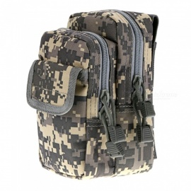 Outdoor Crack-proof Sports Tactical X-2 Waist Bag Molle Accessory Package - AU Camouflage