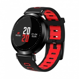M10 Color Circular Screen Smart Bluetooth Bracelet with Heart Rate / Blood Pressure / Blood Oxygen / Sleep Monitoring - Red