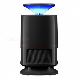 Electric LED Photocatalyst Silent Mosquito Killer for Household Use - Black
