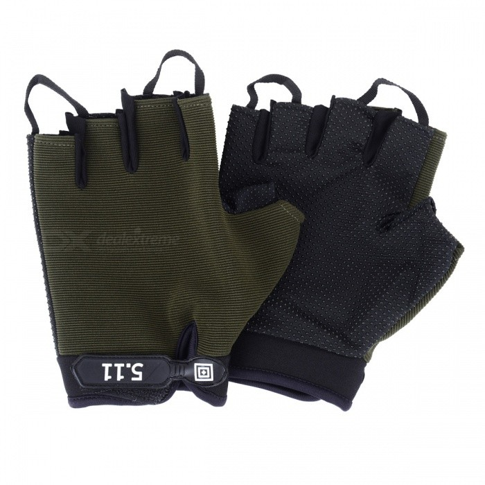 Ctsmart Outdoor Cycling Gloves Half-Finger MountaineeriAng Anti-Skid Gloves - Green (XL)