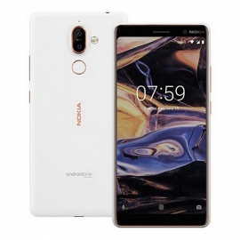 Nokia 7 Plus TA-1062 Smart Phone with 4GB RAM, 64GB ROM - White